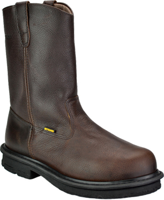 "Men's Wolverine 10"" Steel Toe Wellington Metguard Work Boot W01671"