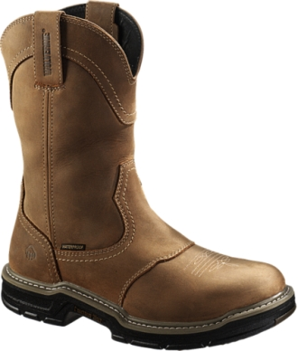 "Men's Wolverine 10"" Steel Toe WP Western Wellington Work Boot W02287"