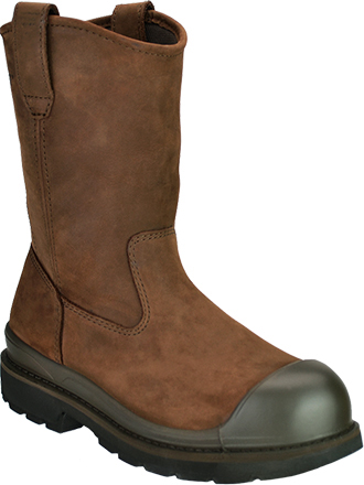 "Men's Wolverine 10"" Steel Toe WP Wellington Work Boot W04664"