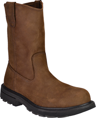 "Men's Wolverine 10"" Steel Toe Wellington Work Boot W04707"