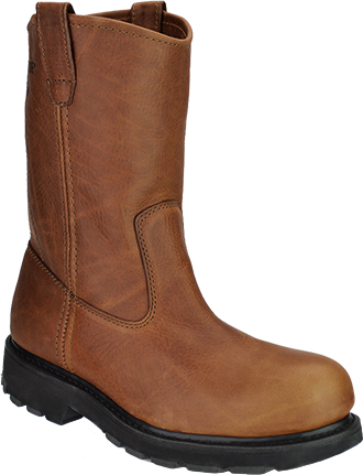 "Men's Wolverine 10"" Steel Toe Wellington Work Boot W08377"