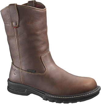 "Men's Wolverine 10"" Steel Toe WP Wellington Work Boot W02357"