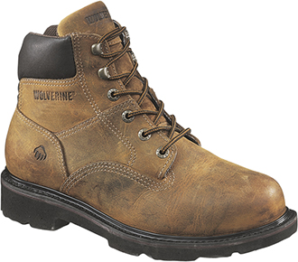 "Men's Wolverine 6"" Steel Toe Work Boot W02055"