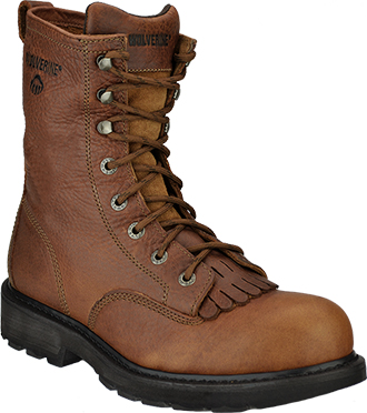 "Men's Wolverine 8"" Steel Toe Work Boot W08393"
