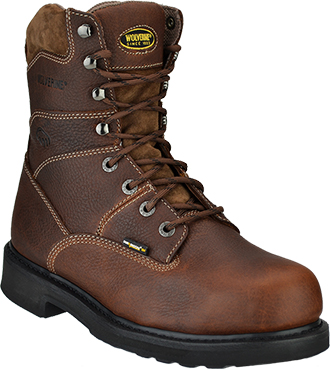 "Men's Wolverine 8"" Steel Toe Work Boot W04327"