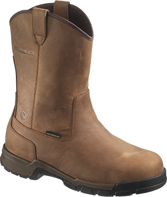 "Men's Wolverine 10"" Composite Toe WP Wellington Metal Free Work Boot W10152"
