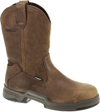 "Men's Wolverine 10"" Steel Toe WP Wellington Work Boot W10217"