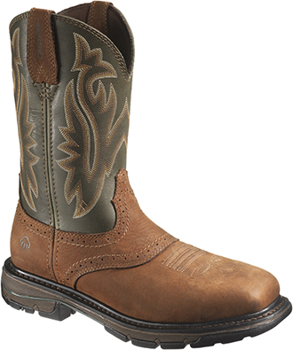 "Men's Wolverine 10"" Steel Toe WP Western Wellington Work Boot W10245"