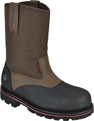 "Men's Wolverine 10"" Steel Toe WP Wellington Rigger Work Boot W10309"
