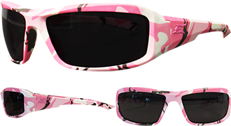 Women's Edge Brazeau Pink Camo Safety Glasses XB116-H1