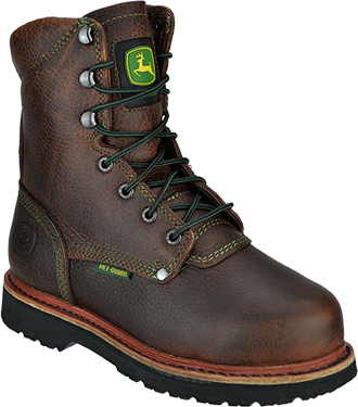 "Women's John Deere 8"" Steel Toe Metguard Work Boot JD3362"