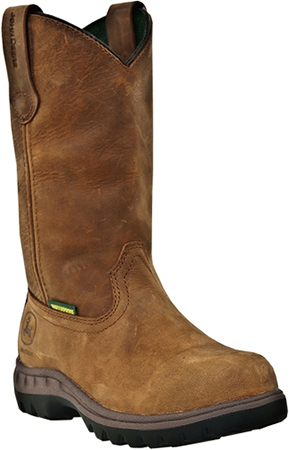 "Women's John Deere 10"" Steel Toe WP Wellington Work Boot JD3304"