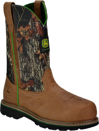 "Women's John Deere 10"" Steel Toe Wellington Work Boot JD3388"