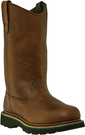 "Women's John Deere 11"" Steel Toe Wellington Work Boot JD3393"