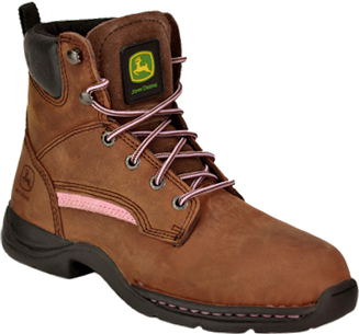 "Women's John Deere 6"" Steel Toe Work Boot JD3612"