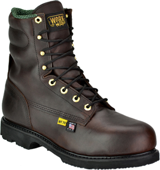 "Men's Work One 8"" Steel Toe Metguard Boot (U.S.A.) E608"