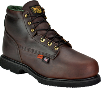 "Men's Work One/Thorogood 6"" Steel Toe Metguard Boot (U.S.A.) I702  (804-4541)"