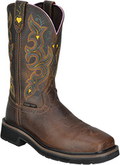 "Women's Justin Original 11"" Composite Toe Wellington Metal Free Work Boot WKL4664"