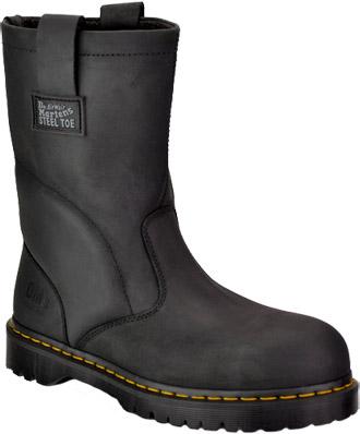 Men's Dr Martens Extra Wide Steel Toe Wellington Work Boot ...