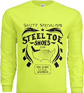 Steel-Toe-Shoes.com Long Sleeve T-Shirt (Safety Green)